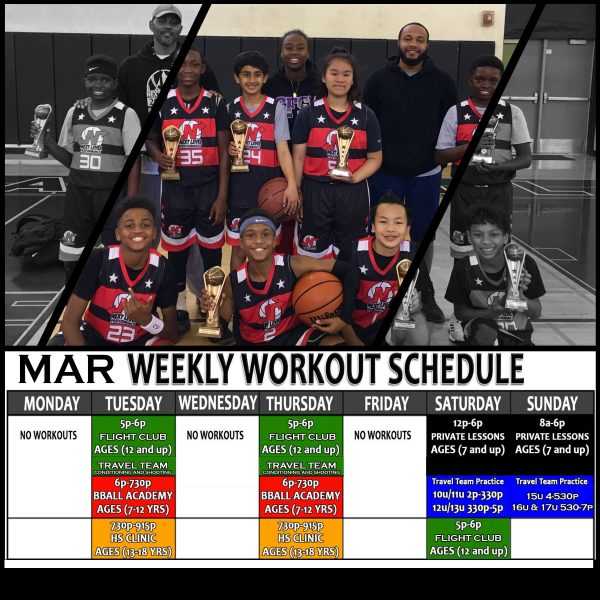 WORKOUT SCHEDULE march