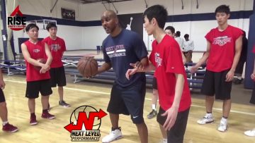 Coach Brian working with Japanese high school basketball teams